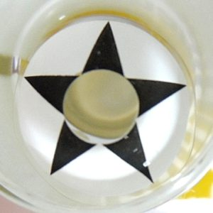 COSTUME COLOR LENS GEO SF-32 CRAZY LENS BLACK STAR WHITE HALLOWEEN CONTACT LENS