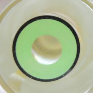 COSTUME COLOR LENS GEO SF-35 CRAZY LENS GREEN BLACK OUTLINE HALLOWEEN CONTACT LENS