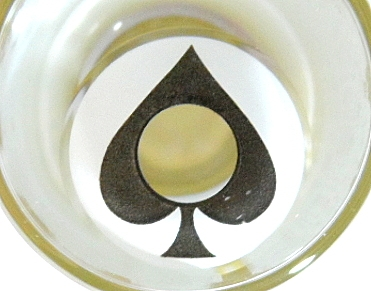 COSTUME COLOR LENS GEO SF-40 CRAZY LENS ACE OF SPADES ALICE IN WONDERLAND HALLOWEEN CONTACT LENS