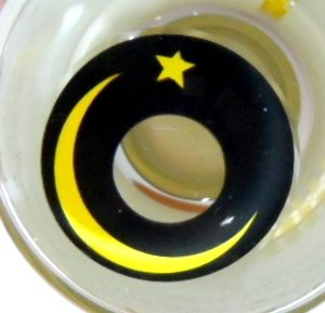 COSTUME COLOR LENS GEO SF-67 CRAZY LENS MOON AND STAR HALLOWEEN CONTACT LENS