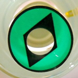 COSTUME COLOR LENS GEO SF-79 CRAZY LENS GREEN DIAMOND HALLOWEEN CONTACT LENS
