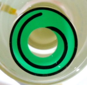 COSTUME COLOR LENS GEO SF-80 CRAZY LENS GREEN HYPNOTIZE HALLOWEEN CONTACT LENS